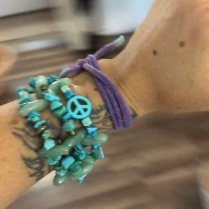Jewelry - Wire wrapped stone bracelet